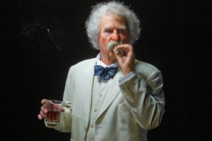 Val Kilmer in Citizen Twain Credit: NEIL JACOBS Photographer